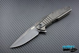 midtech Jason Brous Blades Insight knife, acid wash finish, titanium scales, dustin turpin insight, D2 blade steel