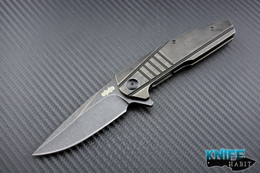 midtech Jason Brous Blades Insight knife, acid wash finish, titanium scales, dustin turpin insight, D2 blade steel