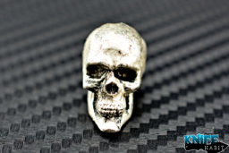 custom rick barrett anatomical skull knife bead