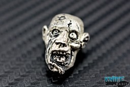 custom Rick Barrett zombie knife bead