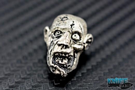 custom Rick Barrett zombie knife bead