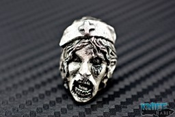 custom Rick Barrett zombie nurse knife bead