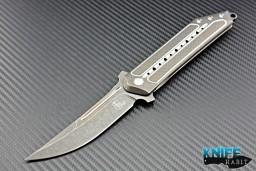 Steelcraft Todd Begg Kwaiken knife, titanium, black acid stonewash titanium scales, blade s35vn steel