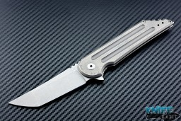 semi-custom Jake Hoback UHEP stonewashed kwaiken mid tech knife