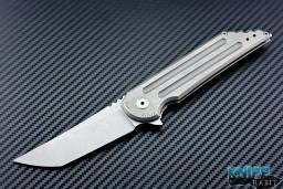 semi-custom Jake Hoback UHEP stonewashed kwaiken mid tech knife