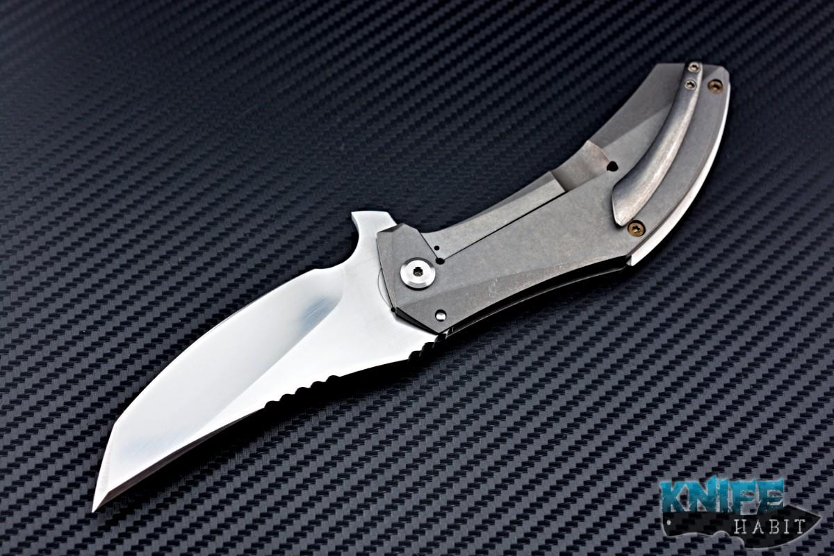 Rare Jeremy Marsh Maelstrom Flipper Custom Knife Knife Habit