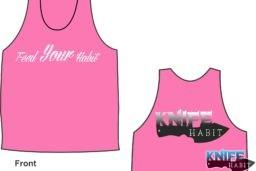 knife habit custom knives women's pink tank top