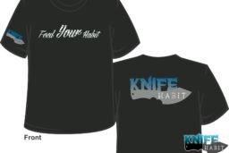 knife habit custom knives men's feed your habit t-shirt gear