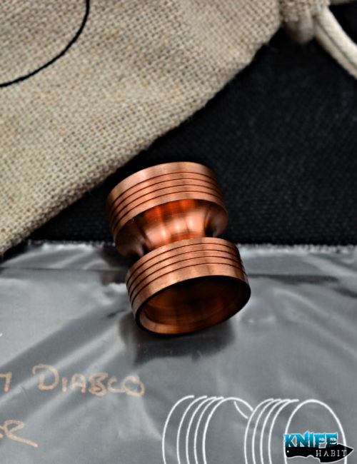 custom chris warden copper diablo knife bead