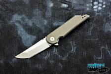 mid-tech jake hoback mk ultra uhep, titanium everyday carry edc semi-cusom knife