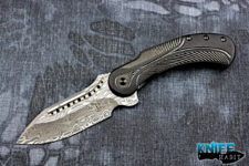 todd begg knives blacked out field marshall knife, draupner damasteel blade