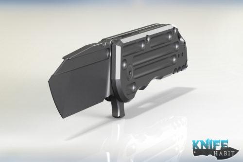 mid-tech semi-custom alphahunter tactical design, jake hoback, black stallion warhorse knife