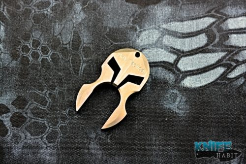 custom ADV tactical knock tool by Andre De Villiers, anodized bronze
