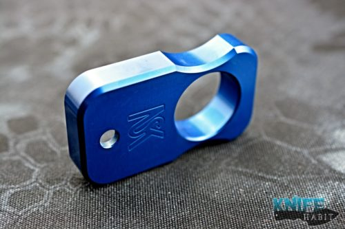 custom north shore kustoms nsk blue equalizer multitool, knuck, bottle opener, aluminum, blue
