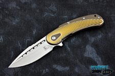 todd begg knives bodega, bronze, gold and silver anodized, satin s35vn blade steel