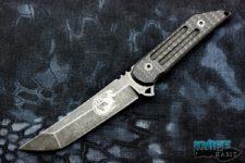 semi-custom jake hoback kwaiback fixed blade knife, eagle head special edition, fallout m390 blade steel