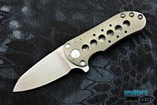custom direware t-95 knife, satin flat-grind bohler m390 blade steel