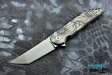 semi-custom jake hoback agent knife, agency arms collaboration, multi-cam black finish