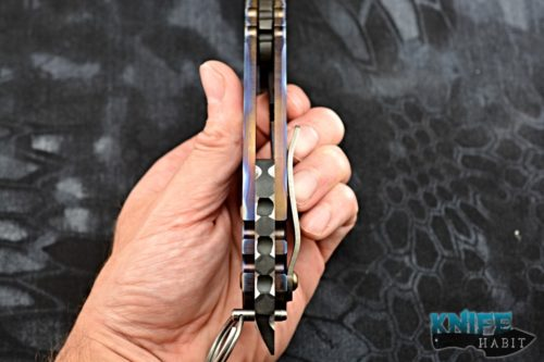 custom todd heeter man-o-war axe choppa knife, afterburn 3v blade steel