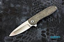 custom direware tailwhip v2 knife, marbled carbon fiber scale, titanium handle, bohler m390 blade steel