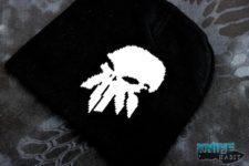 custom knife habit gear, skull cap, winter beanie