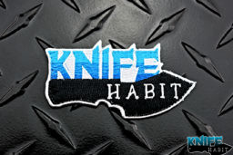 custom knife habit patch, top custom knife gear