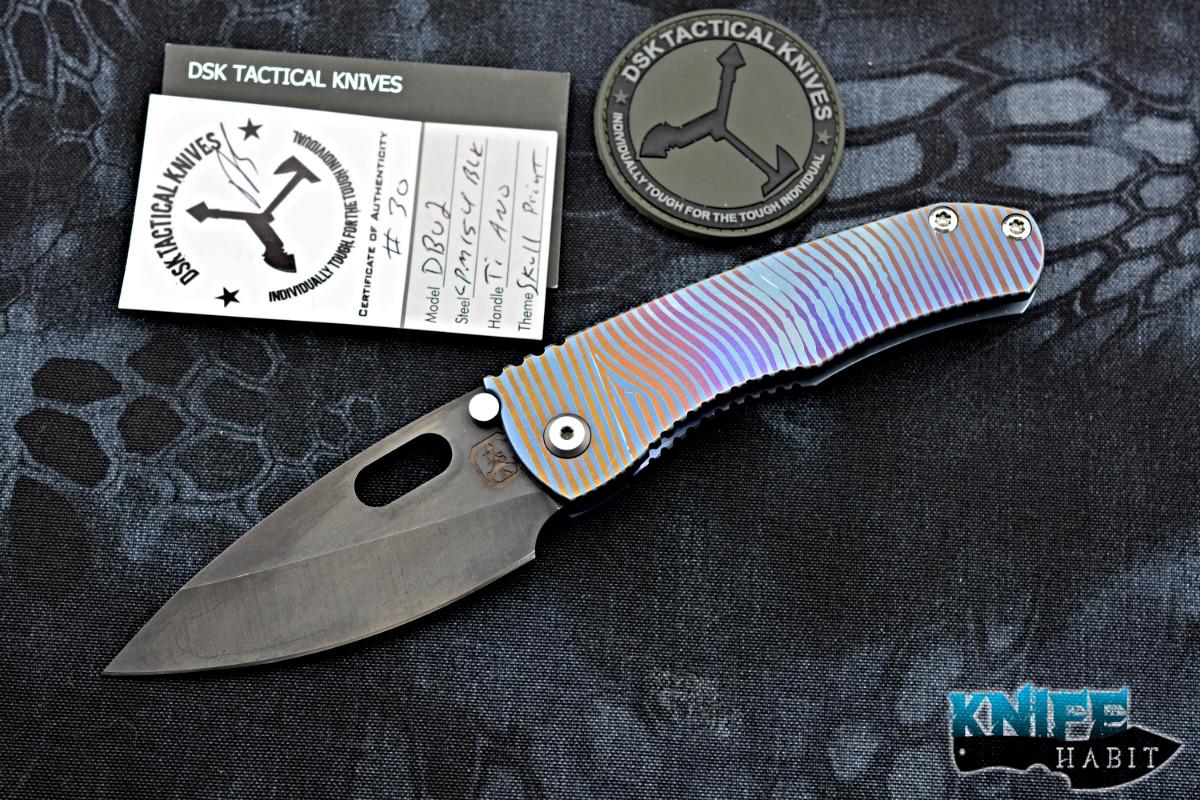 24a83d069ce3 DSK Tactical Knives Diamondback V2 Skull Print Ano Ti - Knife Habit