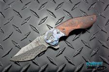 custom greg lightfoot empire knife, black timascus bolsters, chad nichols damascus