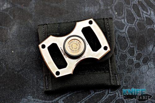 Steel Flame Brnly Koi Ring Spinner Custom Gear Knife Habit